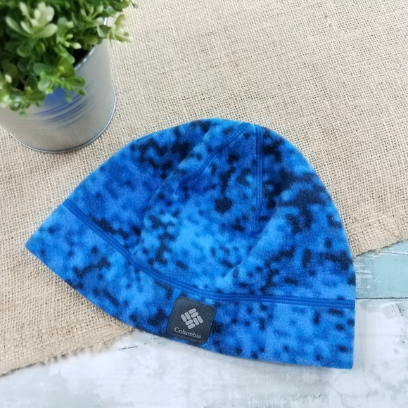 Columbia Other - Columbia Blue Black Fleece Winter Hat Youth Small